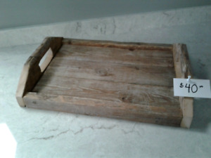 Handmade rustic serving trays