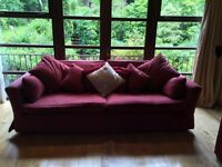 Luxury timeless sofa and loveseat