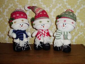 "GROUP OF 3 ""FAT HEAD SNOWMEN"""