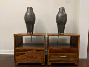 Artemano Bella Night Table Stand acacia, suar side table, lamps