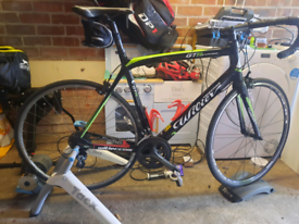 Full carbon wilier gtr Road bike with tacx flow zwift compatible turbo