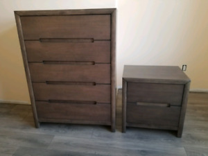 Nightstand and chest wood