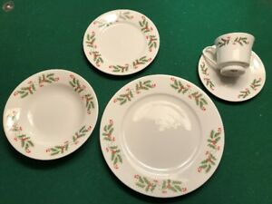 Fine China Christmas Ware  Set of 8