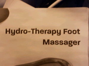 Hydrotherapy foot massage never used