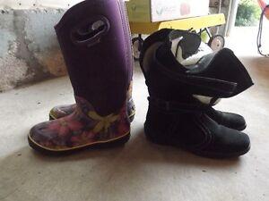Women's BOGS and Reiker Black suede boots