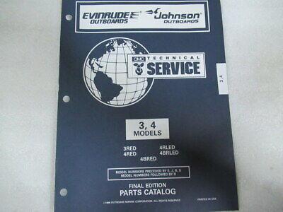 1997 Evinrude Johnson 3/4 Model Final Edition OEM Part Catalog Manual P/N 438186