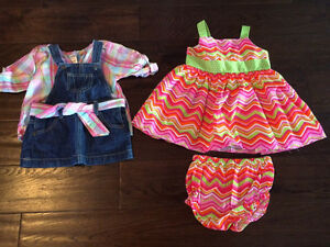 6-12 month girls dress lot