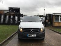 2015 65 MERCEDES-BENZ VITO 2.1 114CDI LONG BLUETEC 136BHP NEW SHAPE. 1 OWNER. DI