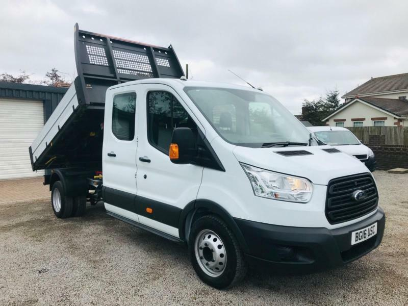 c82b1bb1539e89 FORD TRANSIT 350 2.2 125ps 7 SEAT D CAB ONE STOP TIPPER
