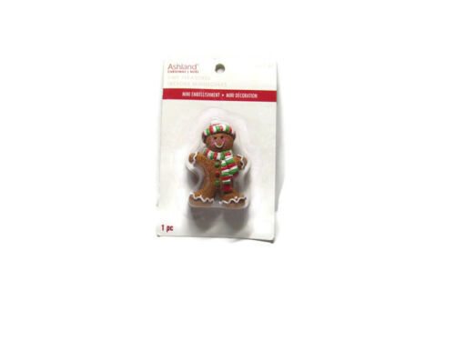 Ashland Christmas Village Gingerbread Santa Figure 2.5""