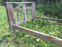 Barn wood double bed frame