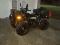 2001 Arctic Cat 4 Wheel Drive with winch & plow