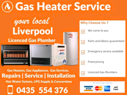 Gas Heater Service and Repairs - LIVERPOOL