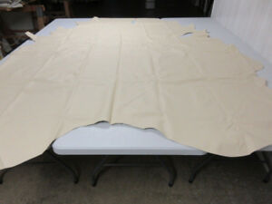 Genuine Leather Cowhide Full Hide upholstery crafts Butter Beige