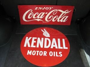 VINTAGE Coke and Kendall Sign Advertising