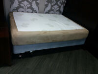 MEMORY FOAM MATTRESS with Box-spring and Frame