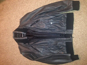 guess leather jacket and aero winter jacket