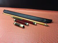 Custom 4 Joint Snooker Pool Cue and Case