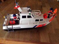 Playmobil Coastguard boat