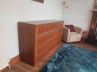 Beautiful DWELL walnut sideboard 1645x845x395mm