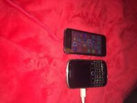Iphone 5 and blackberry bold 9900 for £60