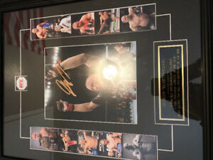 George st-pierre framed autograph