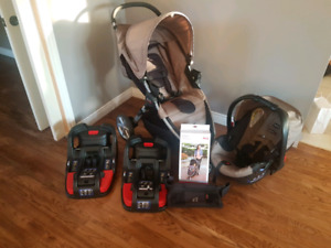2015 Britax Car Seat and Stroller Package.  2 car bases!