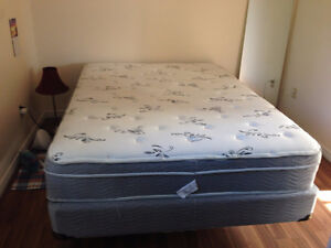 Queen-Sized King Koil Boxspring and Mattress