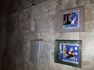 2- classic game boy games with cases