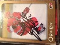 Signed Eric stall card plus a lot more hockey cards