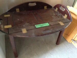 Wood Tray Table