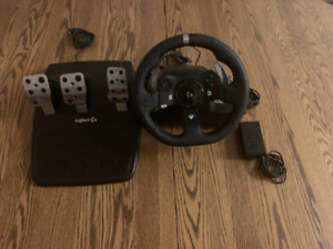 Logitech G920 Wheel, 3 pedal set, and shifter