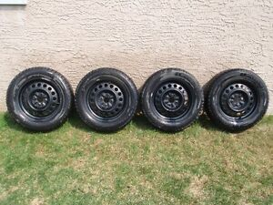 """4 used - 15"""" Michelin winter tires and rims"""