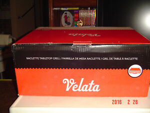 BRAND NEW VELATA 8 PERSON RACLETTE & GRANITE STONE PARTY GRILL Windsor Region Ontario image 2