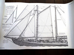 HUGE signed BLUENOSE II Jenson 1st ED Last of the Tall Ships #rd