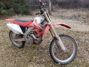 crf 450 not raced used for trail riding
