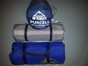 Sleeping Bag & 2 Mattresses Awesome for Camping
