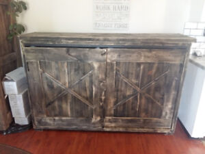Rustic entertainment centre /book case