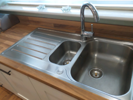Blanco kitchen sink and tap. Stainless steel