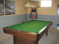 Table de billard  $ 850.00
