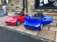 Maserati 12v Ride-On Cars, Parental Remote & Self Drive Bonnet Open Boot Lid Open