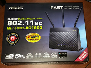 Asus RT-AC68U Wireless AC1900 Dual Band Gigabit Router