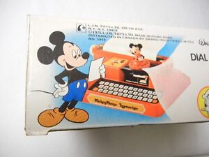 MICKEY MOUSE TYPEWRITER - WITH BOX - 1975 Windsor Region Ontario image 7