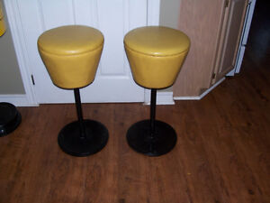 Pair of Vintage Diner Seats 27 Inches Tall