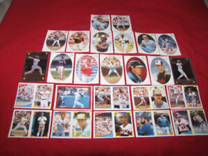 25 1986 O-Pee-Chee baseball stickers -- Hall of Famers*