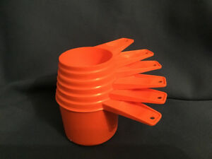 Vintage 1970's Tupperware Orange Measuring Cups