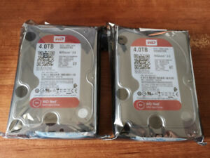 WD 4TB Red Hard Drives - NAS - Like New - Full Warranty