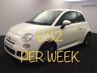 £133.85 PER MONTH 2014 FIAT 500S 1.2 PETROL MANUAL