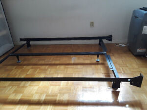 Double metal bed frame and box spring (1.5 years old)