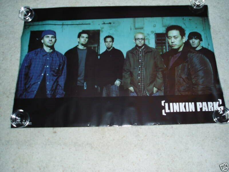 Linkin Park Poster Band Shot Black Border